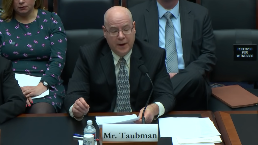 Glenn Taubman Labor Committee Congress Testimony March 2019